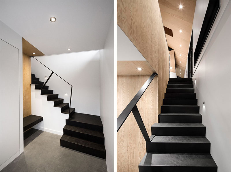 An Elegant Touch With Black Stairs In Modern Homes (2)