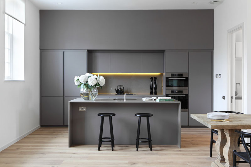 Neutral kitchen design with Fridge Integrated
