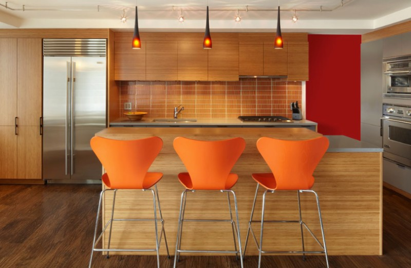 accent furniture with orange