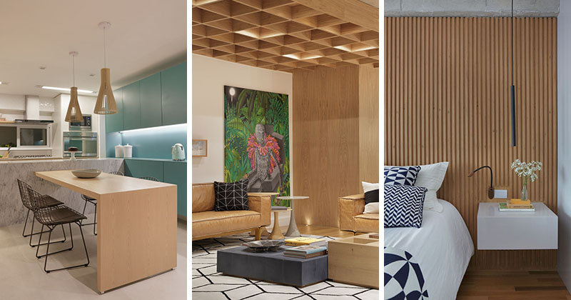 Apartment's Interior Design Featuring Wood Accents