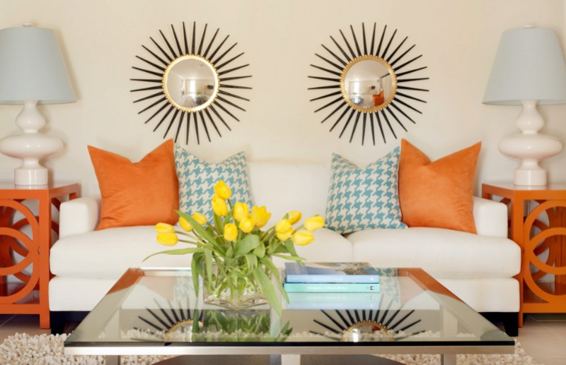 orange home accents with Pillows 2