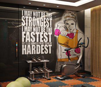 Gym design at hotel in Srinagar.