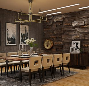 The rustic dining collection. Dining room at Bhiwadi.