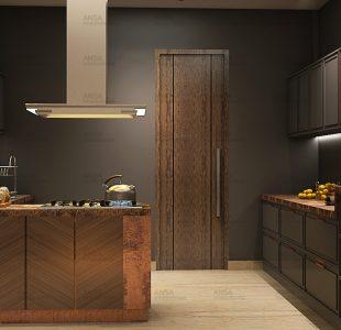 The black beauty. Kitchen design at bali Nagar.
