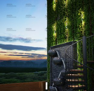 The balcony design with vertical garden at indore.