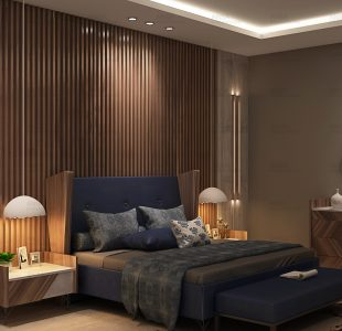 The sophisticated touch. Bedroom at saket.