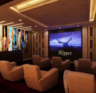 The filmy home theater. Theater design at safdarjung.