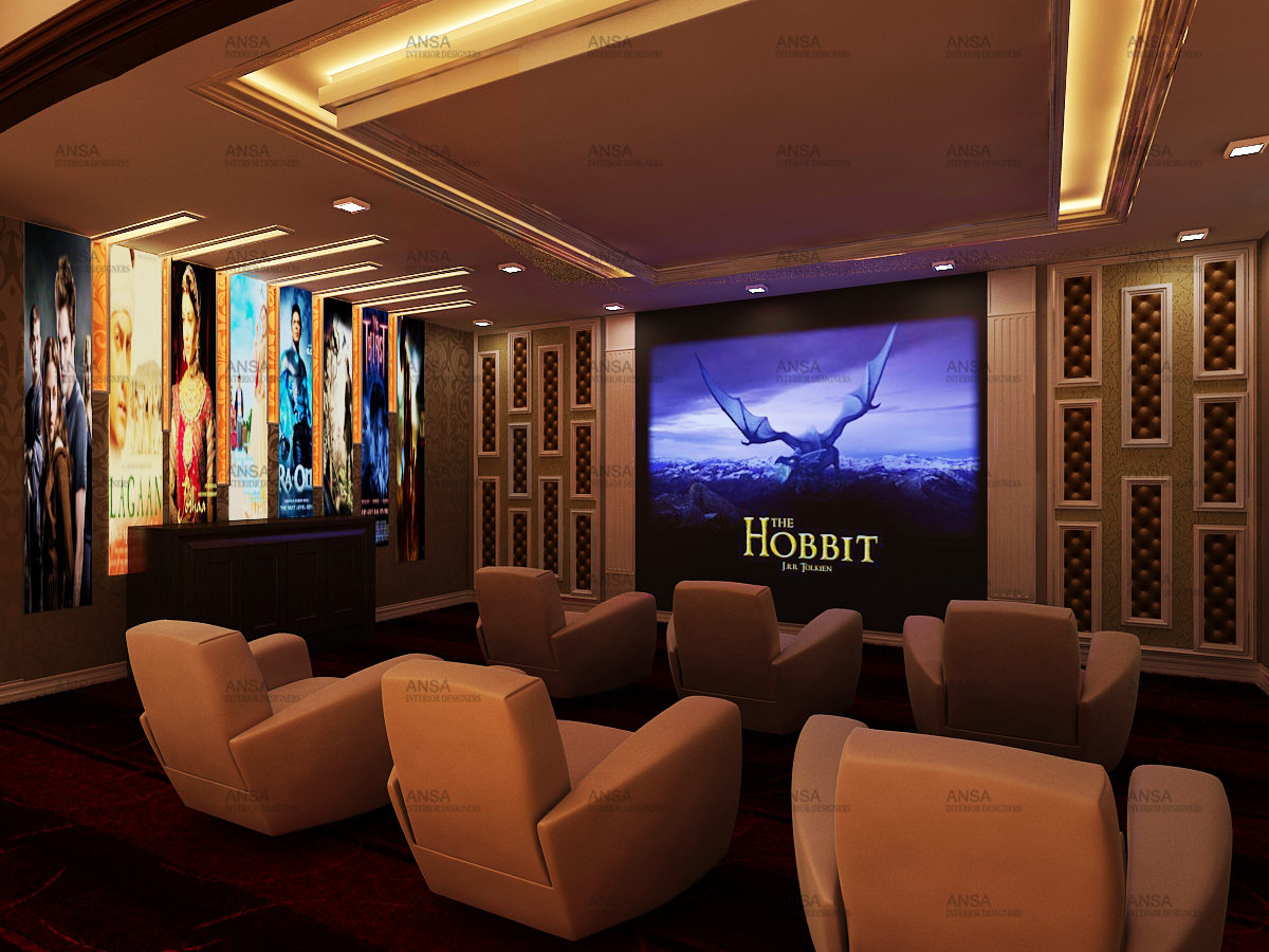 Home Theatre Interior Design Ansa Interiors