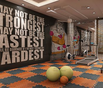 Gym design at hotel in Gulmarg.