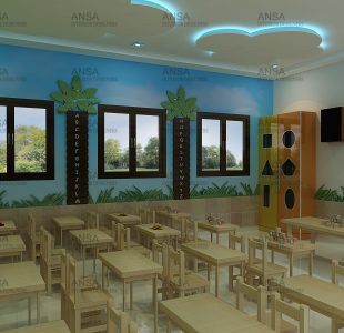 Dwarka Sachdeva Public Schoo Jungle Theme Class Room Interior Design