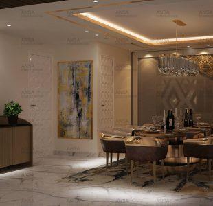 SHIVAJI ENCLAVE dining room ANSA Interiors