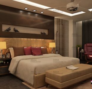 bedroom interiors by ansa luxury interior designers