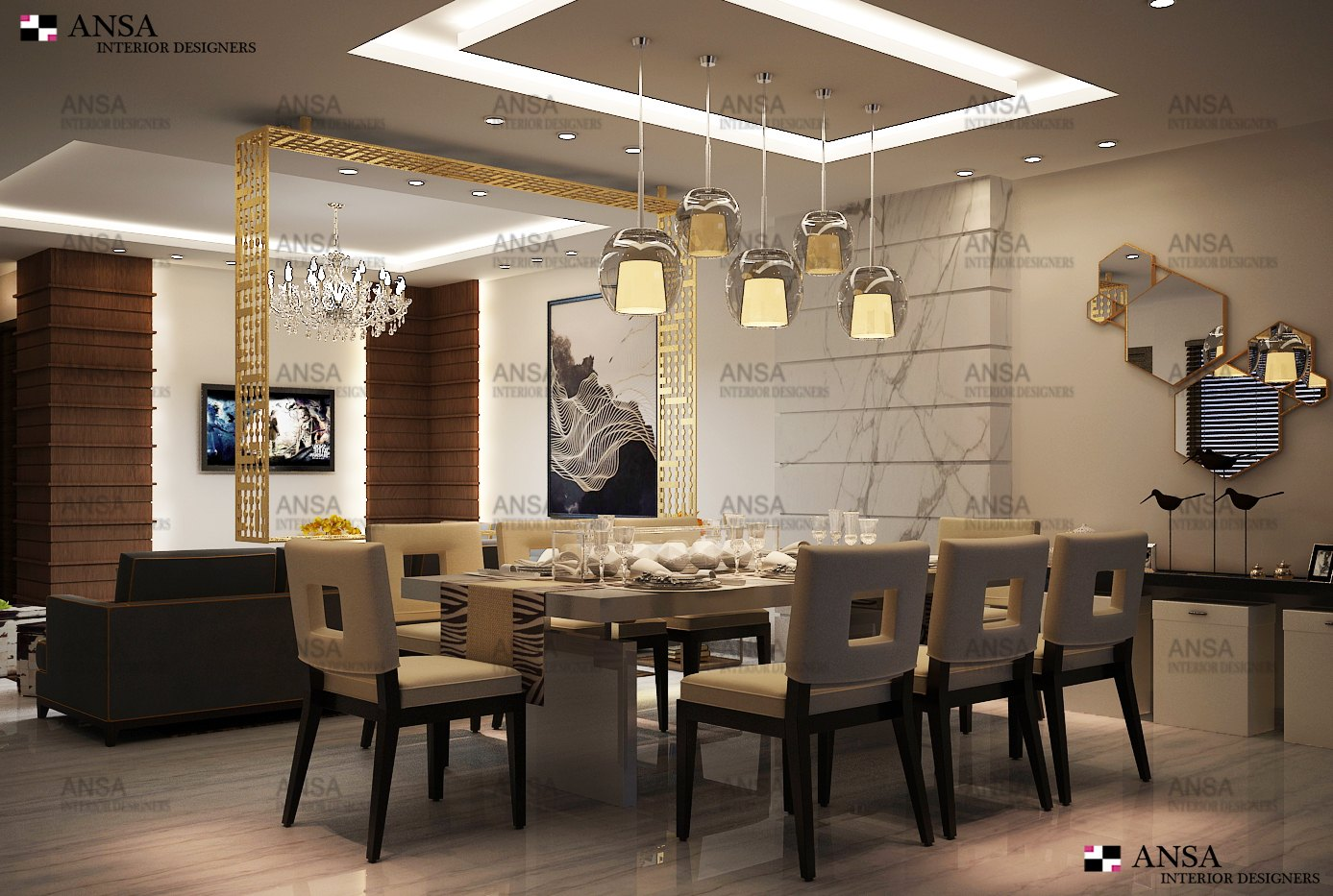 contemporary dining room interior design in delhi