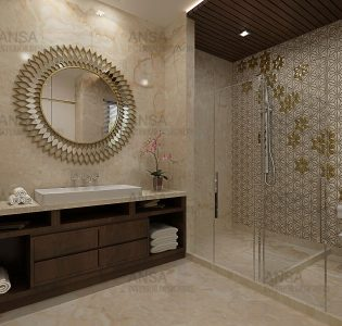 luxury bathroom design by ANSA Interiors