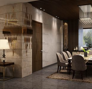 luxury dining room interior design in delhi
