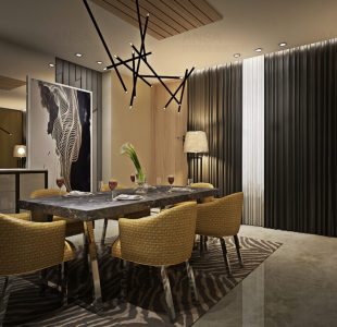 luxury dining room interiors