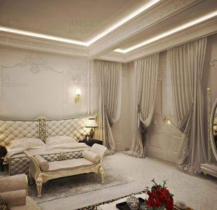 luxury interiors of a bedroom