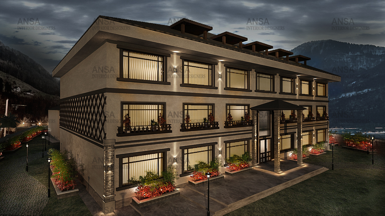 top interior designers in delhi design Hotel in srinagar designed by Ansa Interiors