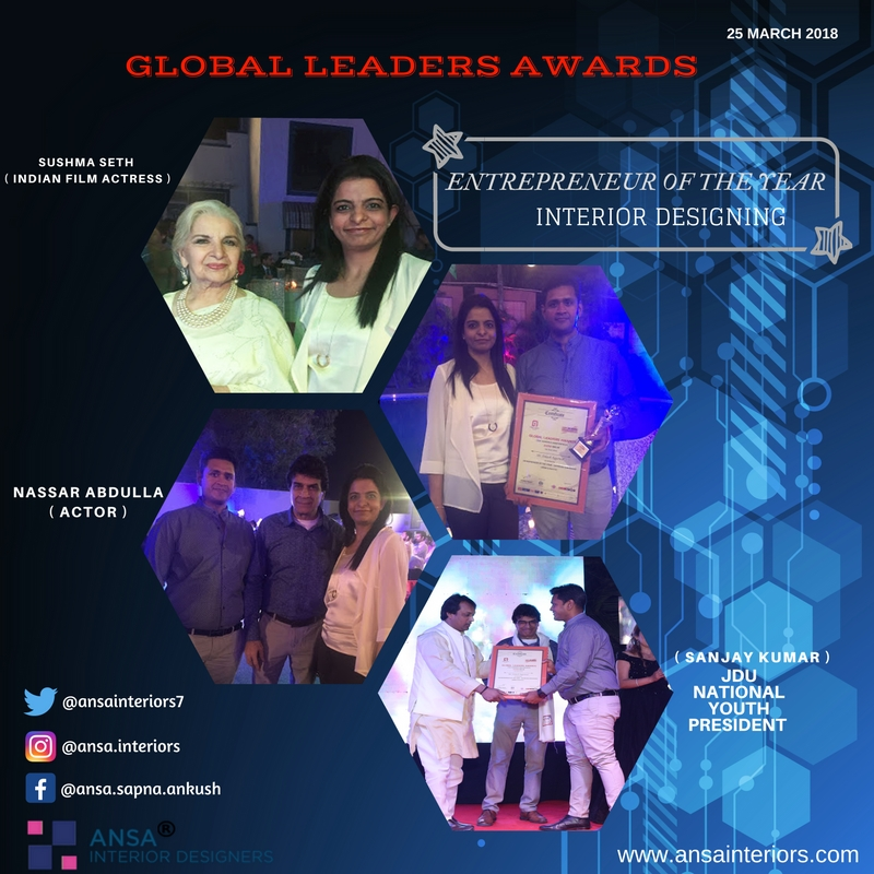 global leaders award for interior designing