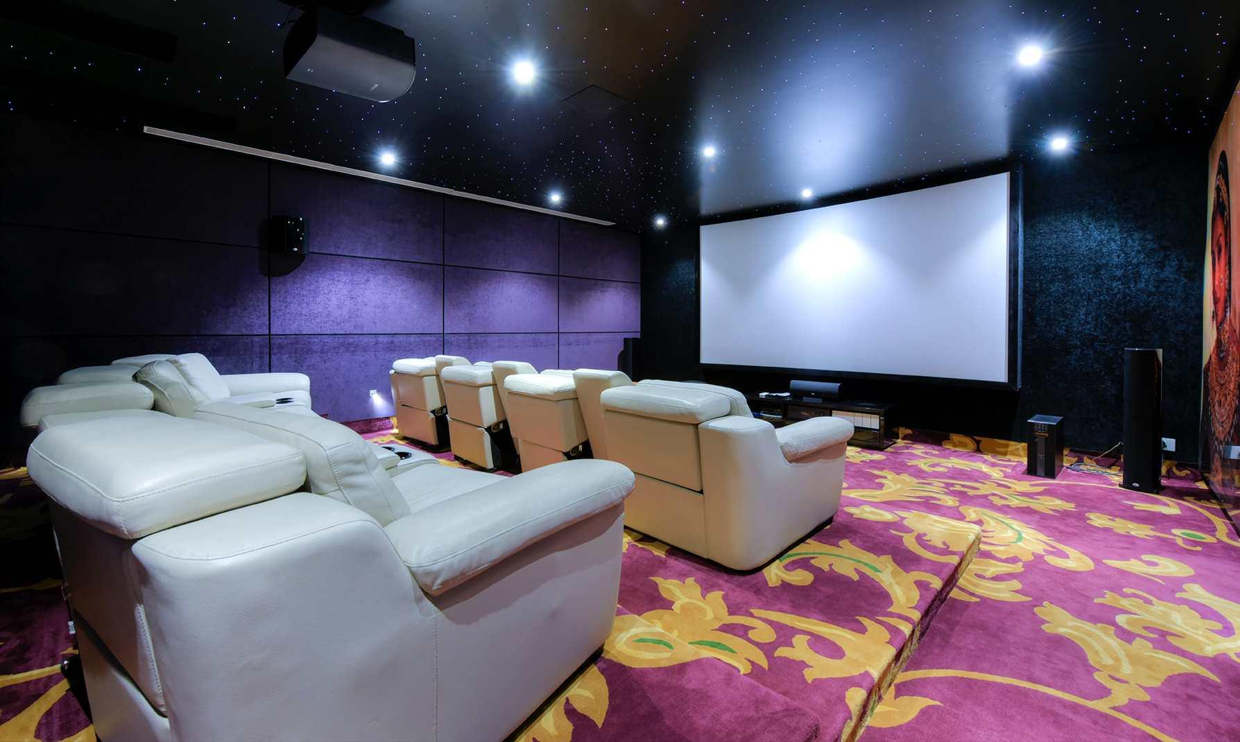 home theatre interior design by ansa interiors