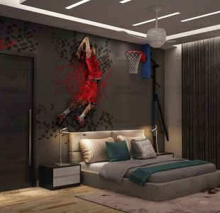 bachelor pad design for a sportsfan