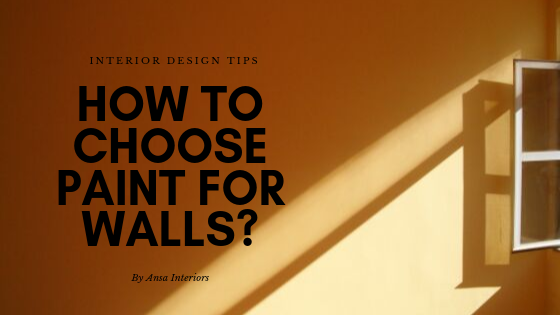 How to choose paint for walls?