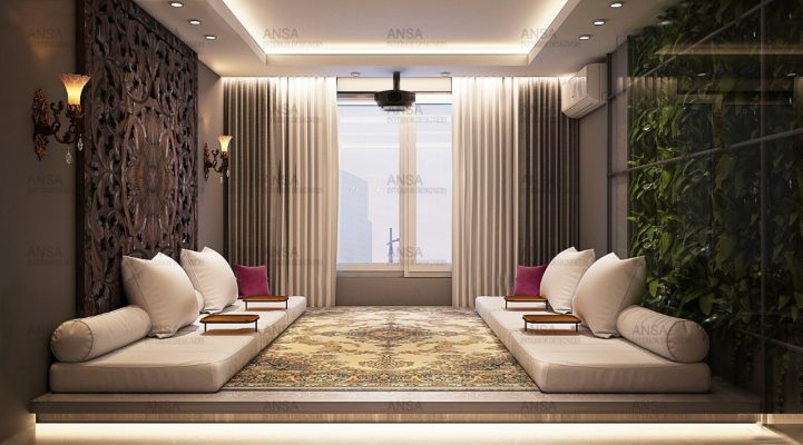 traditional indian drawing room interior designing